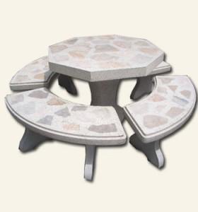 โต๊ะ 8 เหลี่ยมหินอ่อน