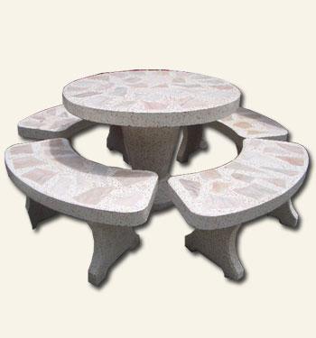 โต๊ะกลมหินอ่อนเล็ก