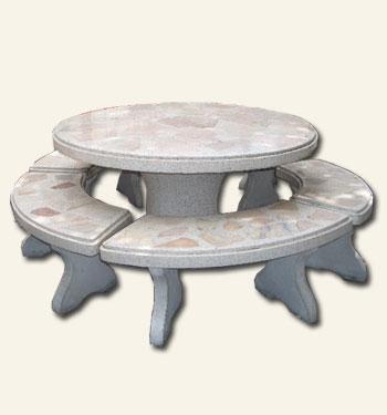 โต๊ะกลมใหญ่หินอ่อน