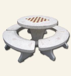 โต๊ะกลมหินขัด